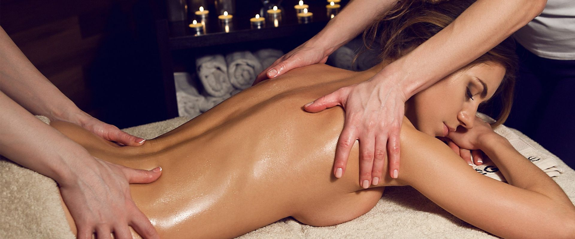 Девушка массаж видео